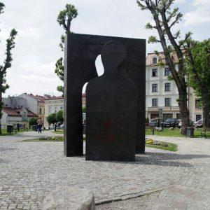 Rzeźba Józefa Szajny Przejście - Skwer Cichociemnych Rzeszów